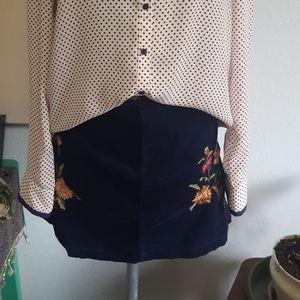 Mossimo navy corduroy skirt